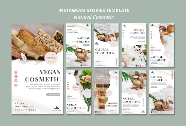 Natuurlijke cosmetica instagramverhalen