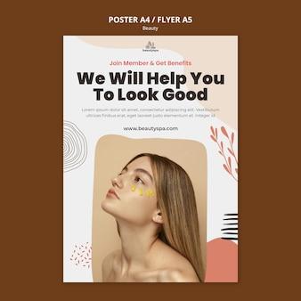 Natuurlijke en schoonheid concept poster sjabloon