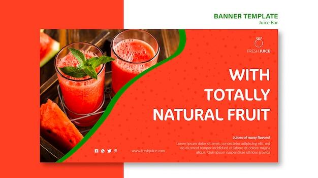 Natuurlijke juice bar banner sjabloonstijl
