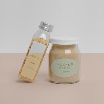 Natuurlijke kruiden met labelmodel