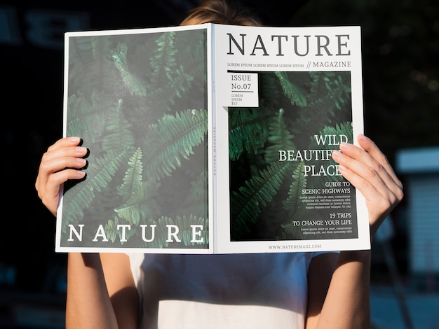 Natuurmagazine onderwerp mock-up