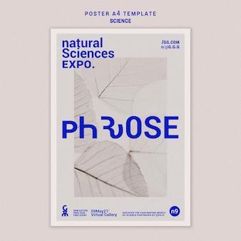 Natuurwetenschappen a4 poster sjabloon