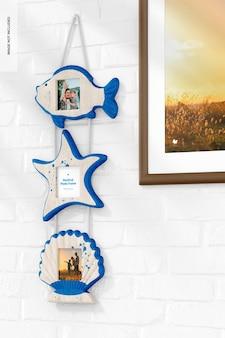 Nautische fotolijst muur hangend model, rechts aanzicht