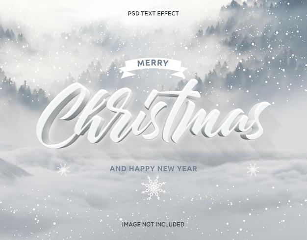 Navidad efectos de texto 3d y año nuevo