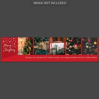Navidad y feliz año nuevo banner plantilla y foto maqueta
