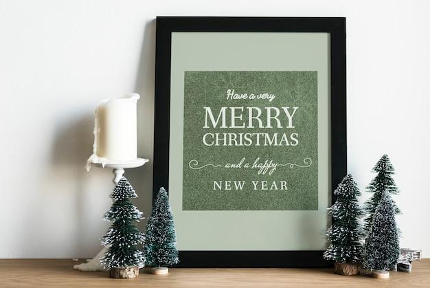 Navidad vacaciones saludo diseño maqueta