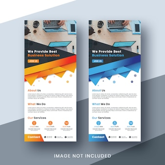 Negocio corporativo roll up banner set print ready