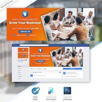 Negocios marketing facebook banner cronología social cubiertas