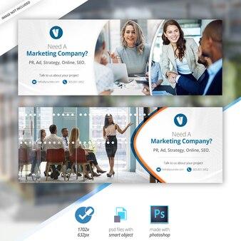 Negocios marketing facebook venta línea de tiempo portada banner