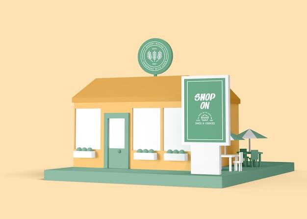 Negozio di torte e biscotti negozio esterno annuncio