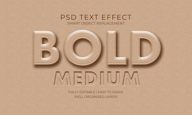 Negro efecto de texto medio