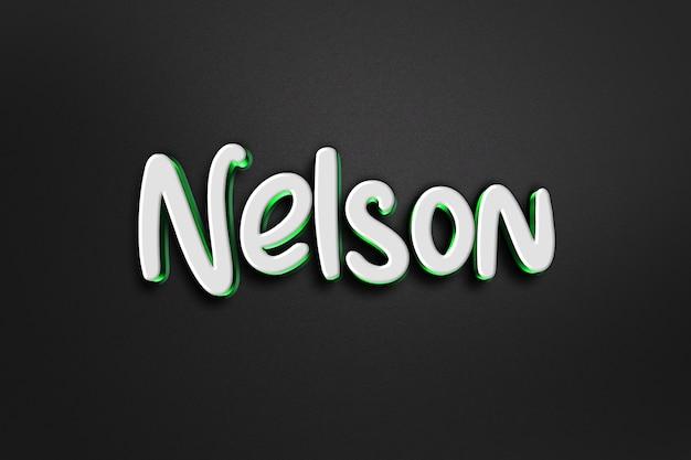 Nelson 3d-tekststijleffect Premium Psd