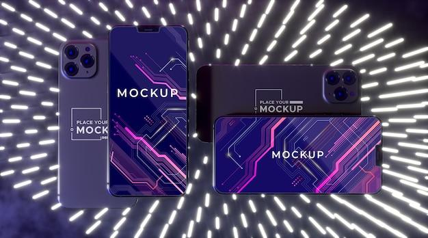 Neon apparaat concept mock-up