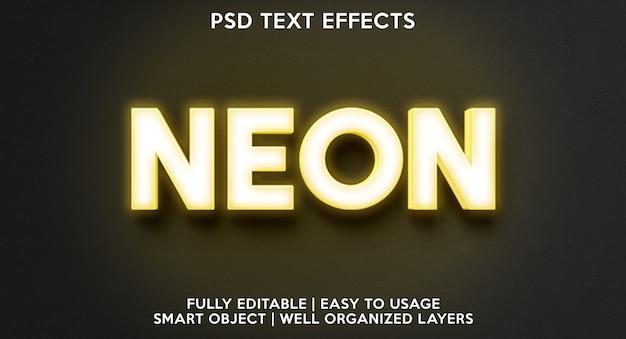 Neon geel teksteffect