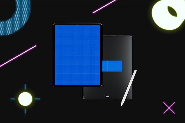 Neon nero tablet mockup