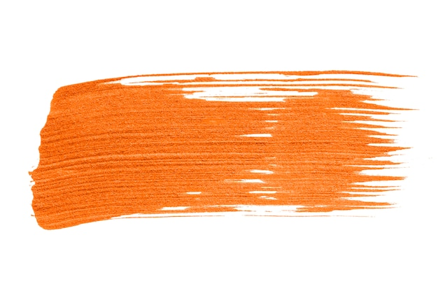 Neon oranje penseelstreek achtergrond