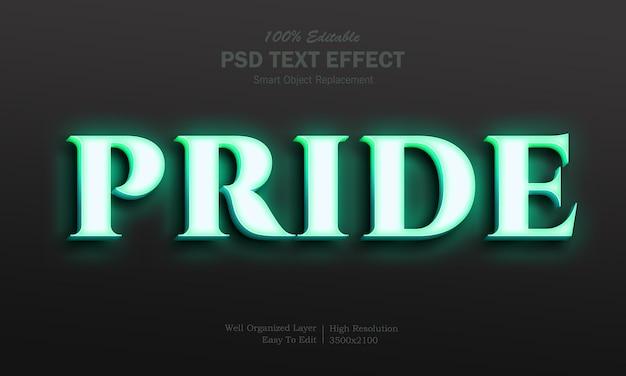 Neon pride teksteffect