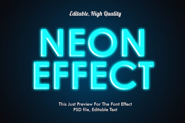 Neon stijl lettertype effect mockup