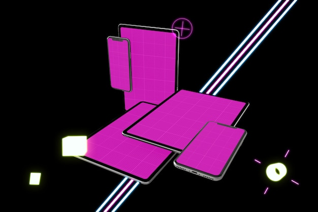 Neon tablet pro & telefoonmodel