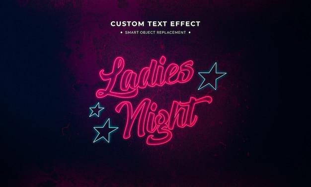 Neon teken tekststijl effect