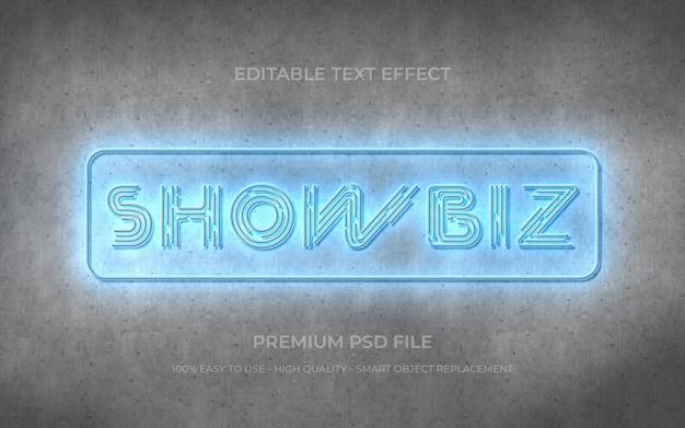 Neonlicht bewerkbare tekst