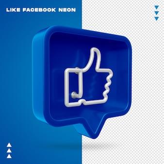 Net als facebook neon geïsoleerd