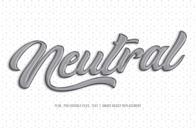 Neutraal 3d-tekststijlmodel