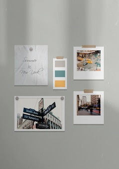 New york city moodboard sjabloon