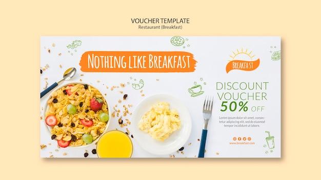Niente come il modello del buono del ristorante per la colazione