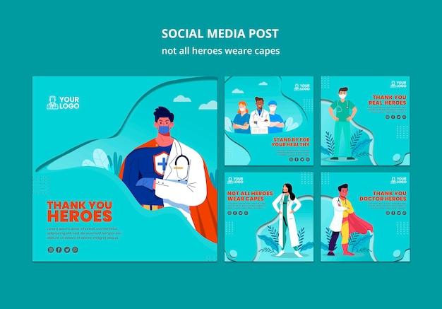 Niet alle helden dragen capes-berichten op sociale media