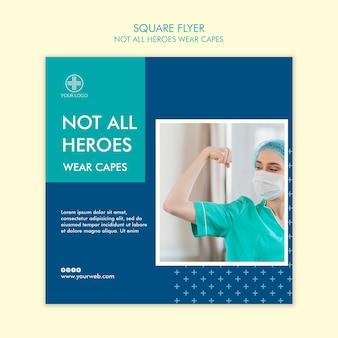 Niet alle helden dragen capes flyer-ontwerpen