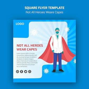 Niet alle helden dragen capes flyer-stijl