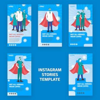 Niet alle helden dragen capes instagram-verhalen