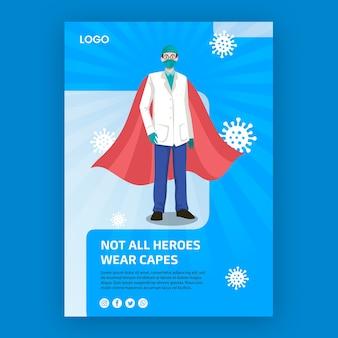 Niet alle helden dragen capes posterconcept