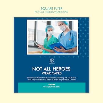 Niet alle helden dragen een flyer-sjabloon voor capes