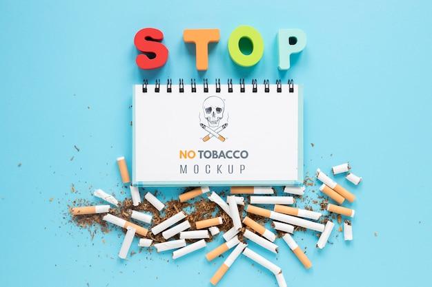 Niet roken concept boven weergave