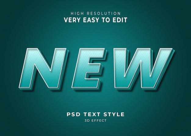 Nieuw 3d modern teksteffect