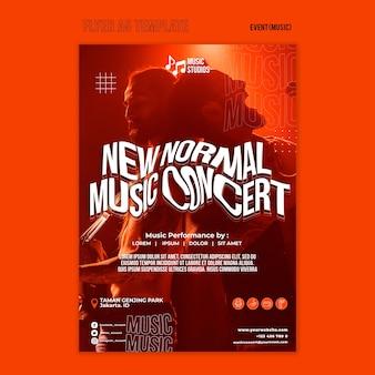 Nieuw afdruksjabloon voor normale muziekconcerten
