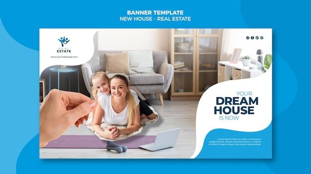 Nieuw huis onroerend goed banner