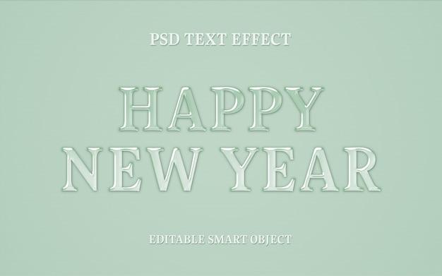 Nieuw jaar teksteffect