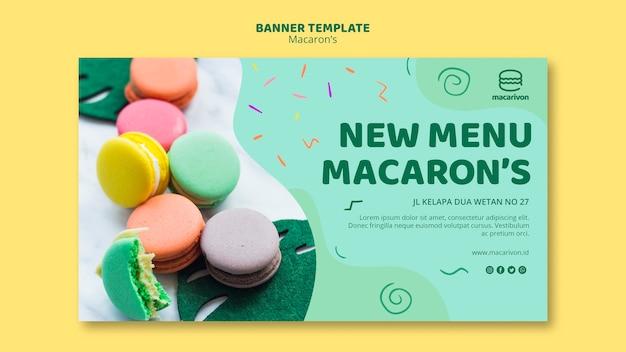 Nieuw menu macaron-sjabloon voor spandoek