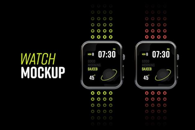 Nieuw modern smartwatch-schermmodel