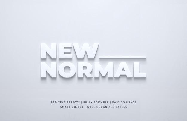 Nieuw normaal 3d-tekststijleffect