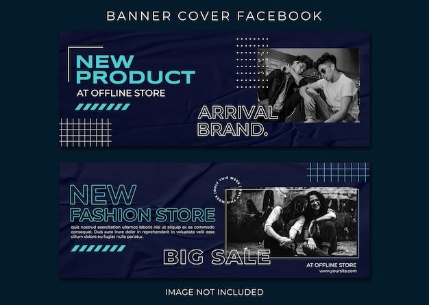 Nieuw product mode verkoop omslag facebook-sjabloon set