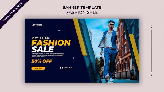 Nieuw seizoen mode verkoop webbanner of instagram-sjabloon voor spandoek
