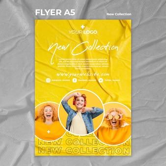 Nieuwe collectie concept folder sjabloon