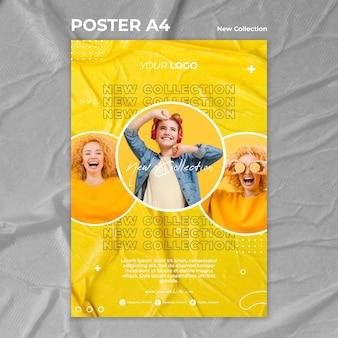 Nieuwe collectie concept poster sjabloon