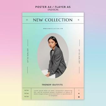 Nieuwe collectie flyer-sjabloon