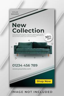 Nieuwe collectie meubels instagram verhaalsjabloon