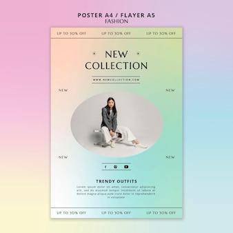 Nieuwe collectie poster sjabloon